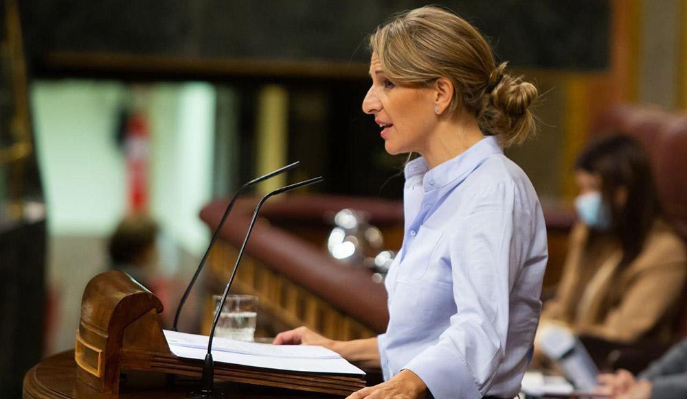 Yolanda Díaz recaba el apoyo de la mayoría absoluta del Congreso para el Real Decreto-ley 28/2020, que regula el Trabajo a Dista...