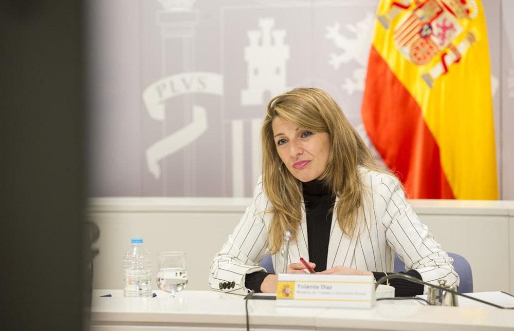 Yolanda Díaz y el viceprimer ministro belga acuerdan impulsar un grupo de trabajo para promover la propuesta de directiva de Sal...