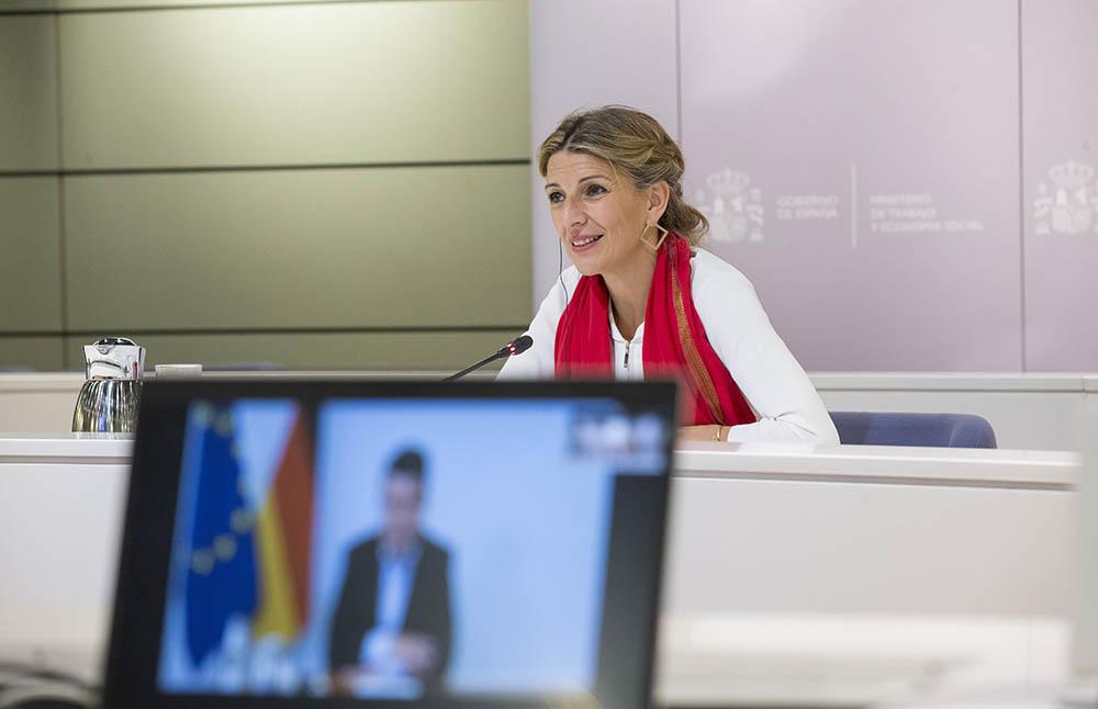 El ministro de Trabajo alemán pone en valor la ley de trabajo a distancia española en el encuentro con la ministra Yolanda Díaz