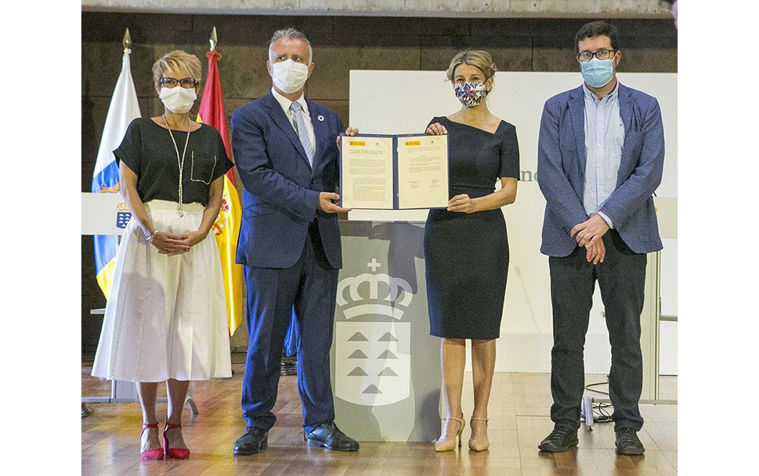Yolanda Díaz subraya el compromiso inequívoco con Canarias para una recuperación del empleo sostenible